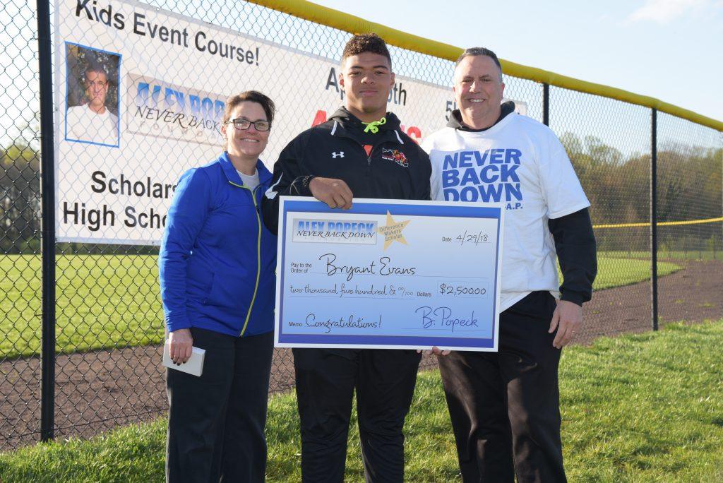 Bryant Evans Alex Popeck scholarship winner