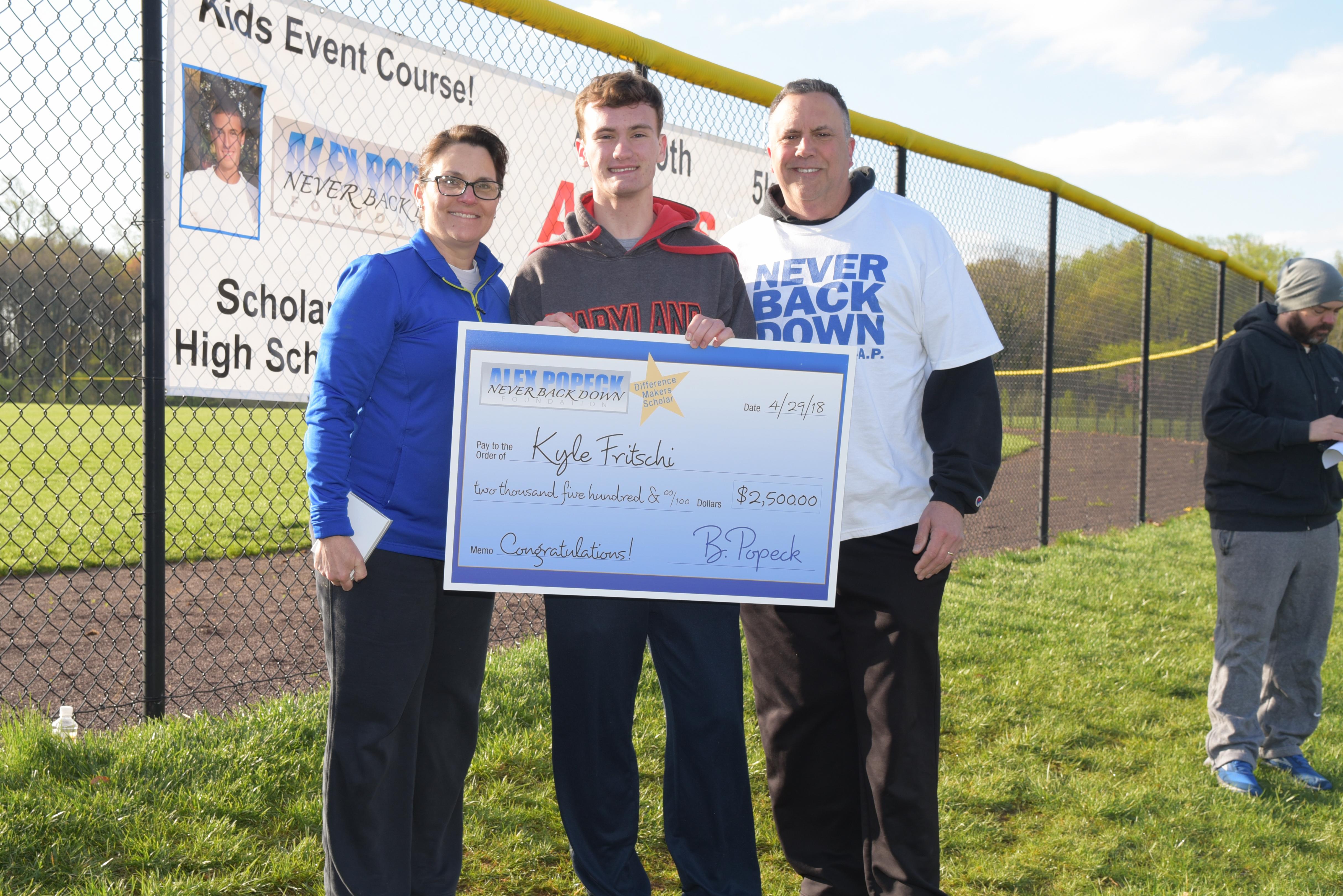 Kyle Fritschi Alex Popeck scholarship winner
